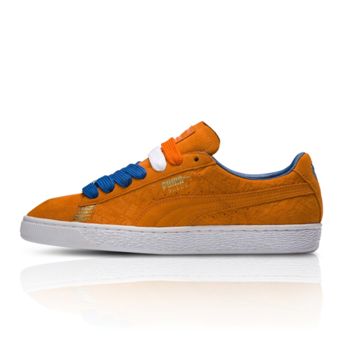 Puma Men s Suede Classic New York Orange Blue Sneaker 34dd0aecad78