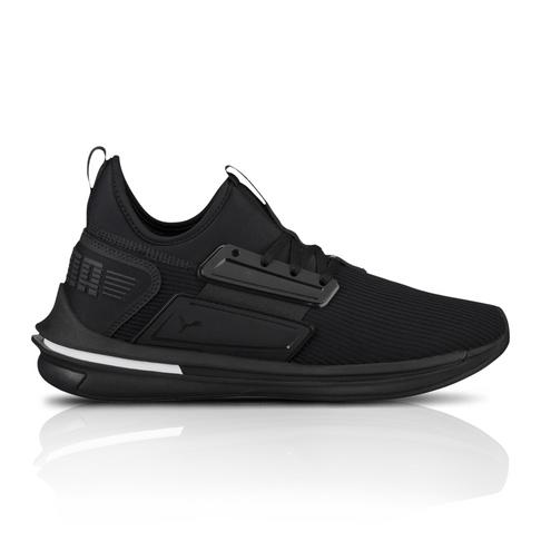 Puma Men s Ignite Limitless Leather Black Sneaker f6a4d8244