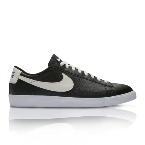 7a95536ce275 ... new zealand nike mens blazer low leather black white sneaker 2c565 4d120