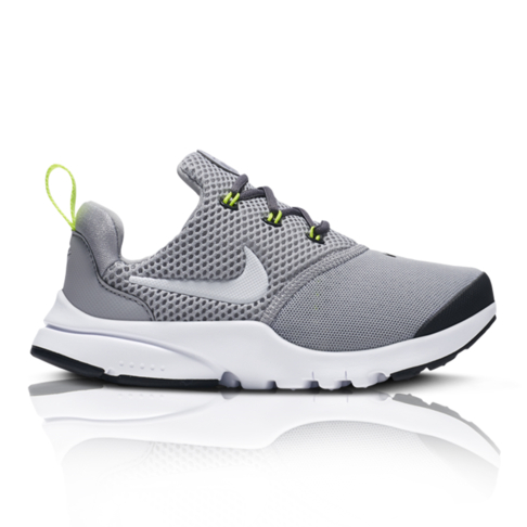 huge selection of 9a039 cd385 Nike Kids Presto Fly GreyWhite Sneaker
