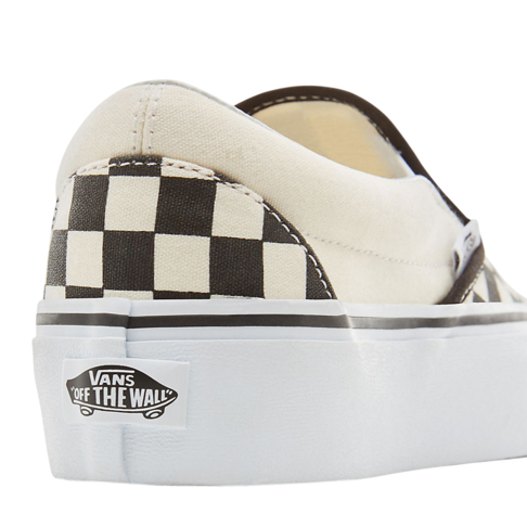 df4cd761d268 Vans Women s Classics Checkerboard Slip-On Platform Brown Cream Sneaker