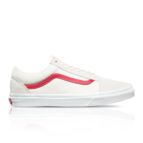 Vans Men s Old Skool White Red Sneaker ccfe5d8eb