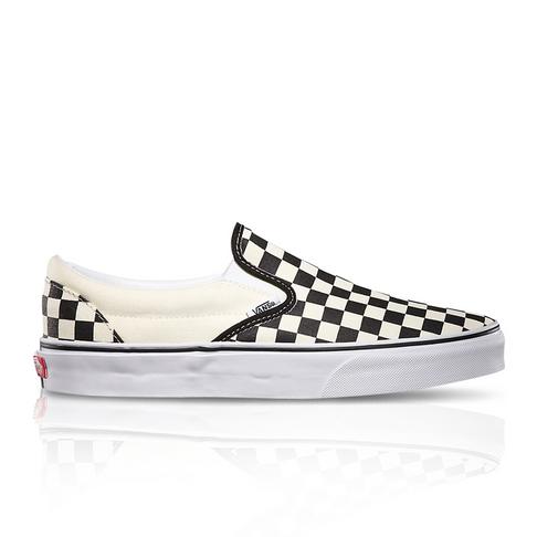 various colors 169f2 b890f Vans Junior Classic Checkerboard Slip-On White Black Sneaker