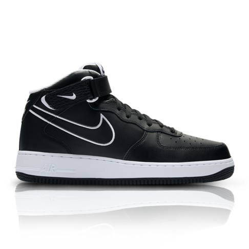 b5995e24e6ad4 Nike Men's Air Force 1 Mid '07 Black Sneaker