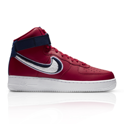 Nike Men s Air Force 1 High  07 LV8 Red White Sneaker cd2c25eeae