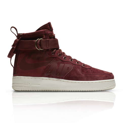 new product c5b36 6f5d5 Nike Mens SF Air Force 1 Mid Maroon Sneaker