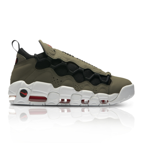 watch e0554 1435e Nike Mens Air More Money Olive Green Sneaker