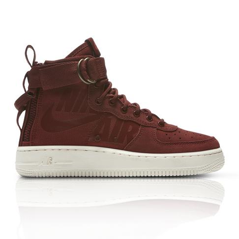 a205e067607 Nike Junior SF Air Force 1 Mid Maroon Burgundy Sneaker