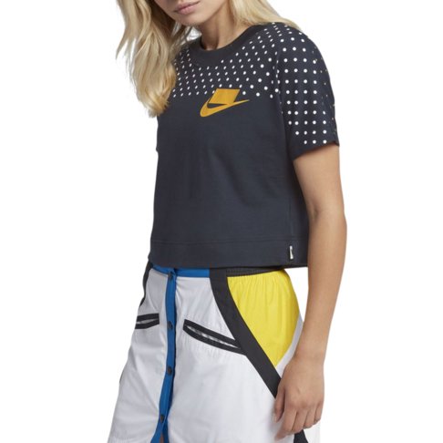 c2a8698f837 Nike Sportswear NSW Women's Short-Sleeve Multicolour Crop Top