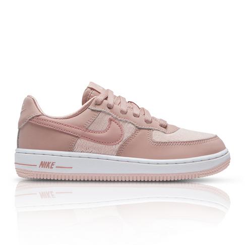8344c9ef712 Nike Kids Air Force 1 LV8 Pink Sneaker