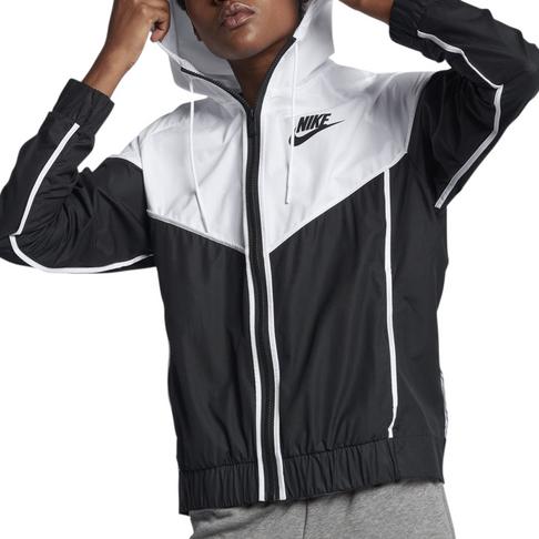1fbf4dd2c0 Nike Women s Sportswear Windrunner Black White Jacket