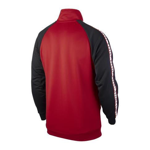 998cf0906402 Jordan Sportswear Jumpman Men s Tricot Black Red  Jacket
