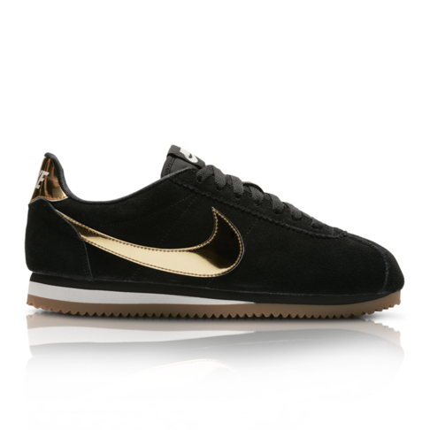 separation shoes 4919e 6226c Nike Women's Classic Cortez SE Black/Gold Sneaker