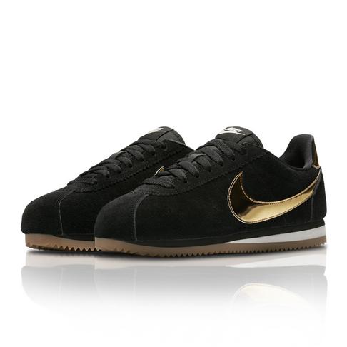 separation shoes 933ad c7b1c Nike Women's Classic Cortez SE Black/Gold Sneaker