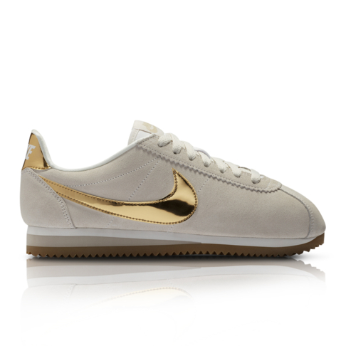 new product b108a 037a3 Nike Women s Classic Cortez SE Cream Gold Sneaker