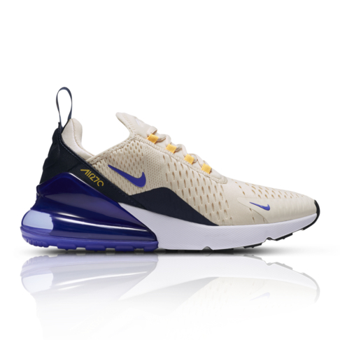 0a747987c4 Nike Women's Air Max 270 Natural/Blue Sneaker