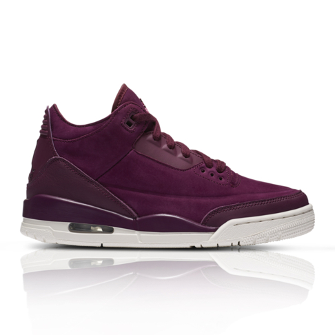 new product 598ec ec250 Air Jordan Women's Retro 3 Burgundy Sneaker