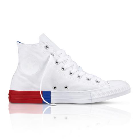 97932f077eb4 Converse Men s All Star Hi  Colour Block  White Red Sneaker