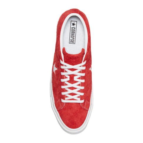 850bbde90f60 Converse Women s One Star Premium Suede Low Top Red White Sneaker