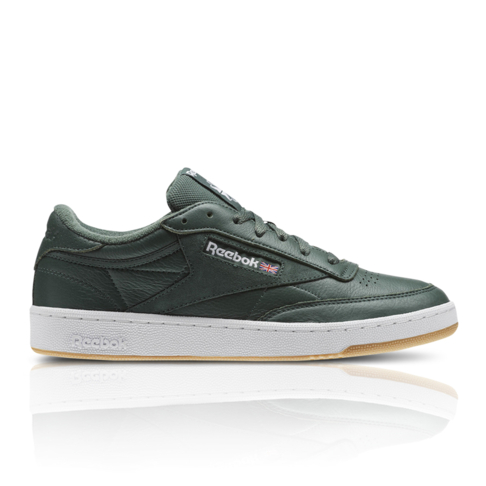 Reebok Men s Club C 85 ESTL Green Sneaker 4256e1559c0dd
