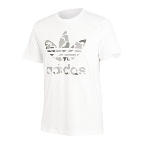 3bc3116249 adidas Originals Men's White Camo Trefoil T-Shirt