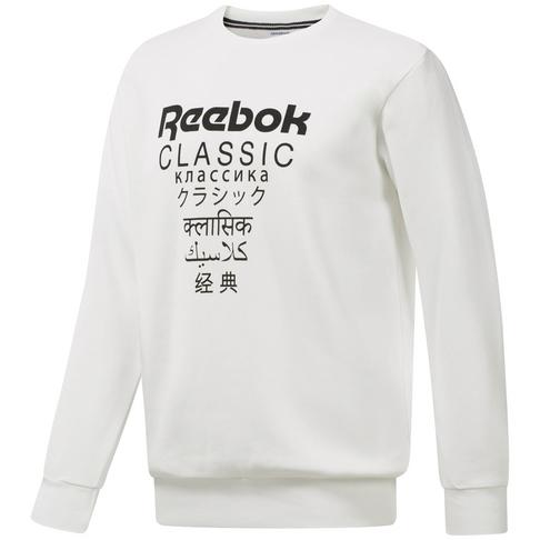 6948b277cb3 Reebok Classic Men s Fleece Crew White Sweater
