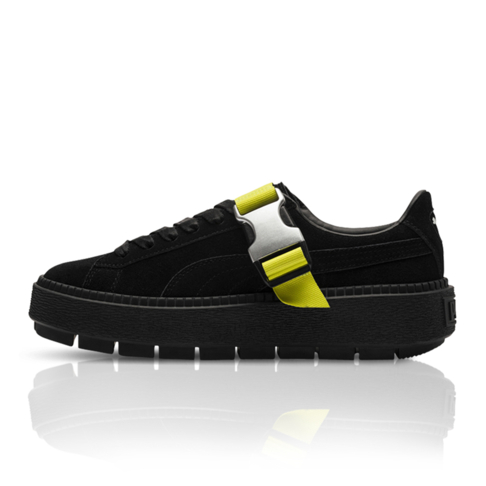 huge selection of e66c6 e3a03 Puma Women's Platform Trace Buckle 'Xtreme Pack' Black Sneaker