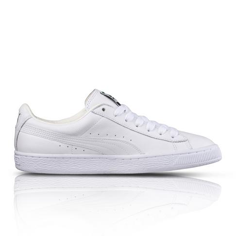 410540c1366f Puma Men s Basket Mono White Sneaker