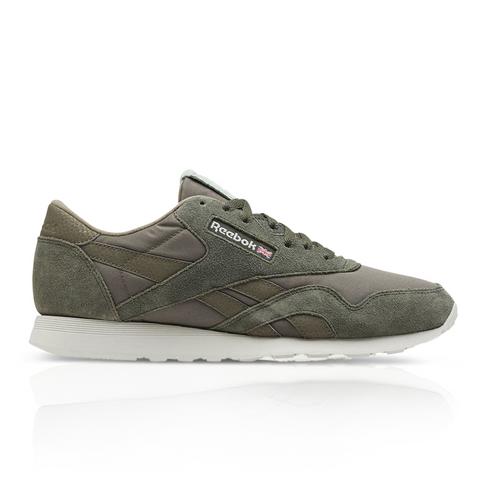 dde2beae6cce8 Reebok Men s Classic Nylon Khaki Green Sneaker