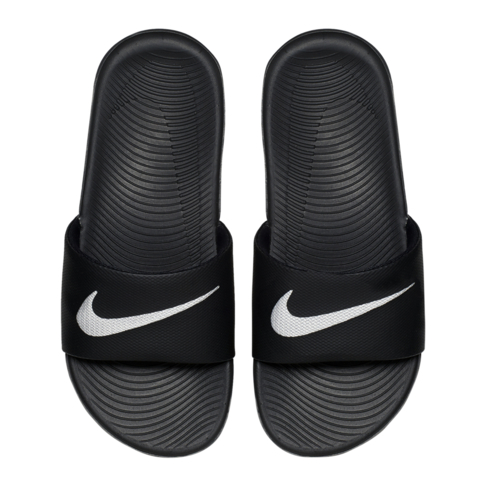 b54081627 Nike Junior Kawa Black White Slide