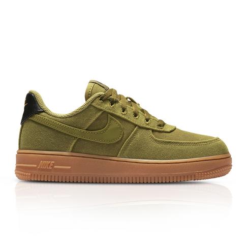 new style 5d4e4 f638e Nike Kids Air Force 1 LV8 Olive Green Sneaker