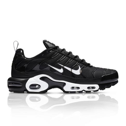 lowest price 76d7d 5dae8 Nike Men s Air Max Plus Premium Black Sneaker