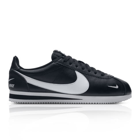 check out 74e1f e20c0 Nike Men's Classic Cortez Premium Black Sneaker
