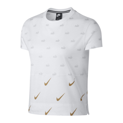 569e62fe Nike Sportswear Women's Metallic White T-Shirt