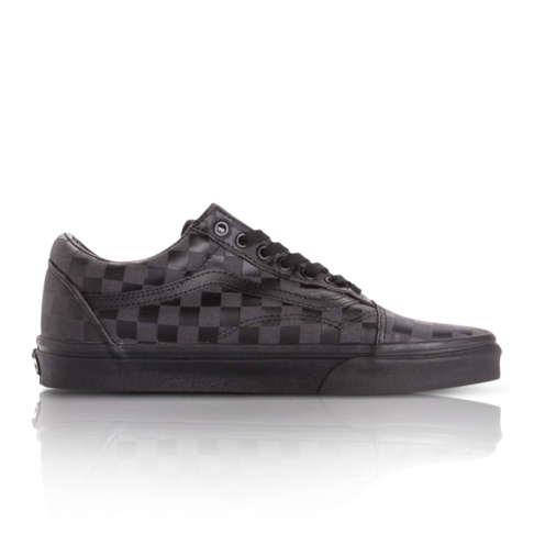 ce7c91aba44 Vans Men s Old Skool Checkerboard Black Sneaker