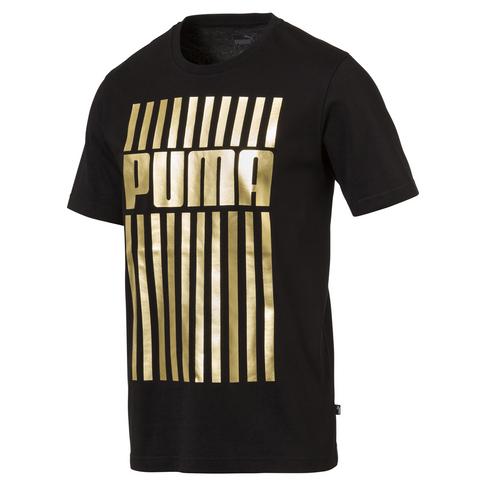 brand new a2f64 a5d69 PUMA Men s Black Gold Graphic T-Shirt