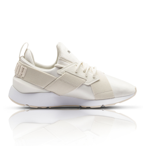 a8333ad433be1c Puma Women s Muse Satin II Cream Sneaker