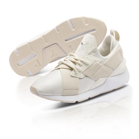 ff109457 Puma Women's Muse Satin II Cream Sneaker
