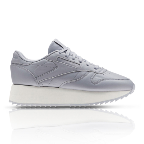 be1e95744751c Reebok Women s Classic Leather Double Grey Sneaker