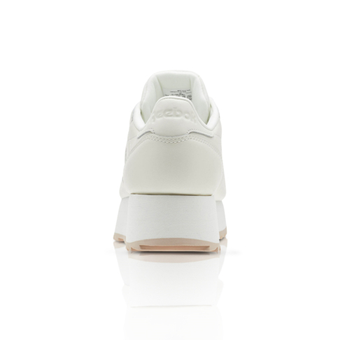b263e6b4e8f Reebok Women s Classic Leather Double Cream Sneaker