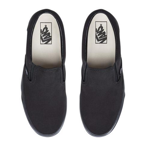 b7fe3c69bff Vans Junior Classic Slip-On Mono Black Sneaker