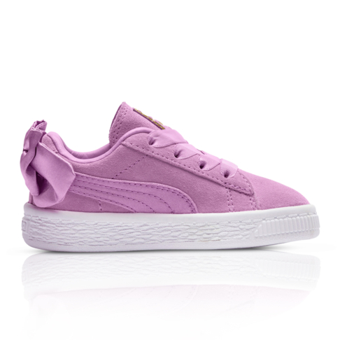 f39c294476bb Puma Kids Suede Bow Pink Sneaker