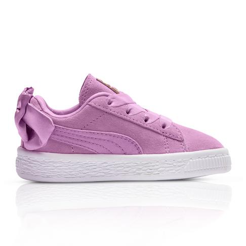 b49a00e64b2c0f Puma Kids Suede Bow Pink Sneaker