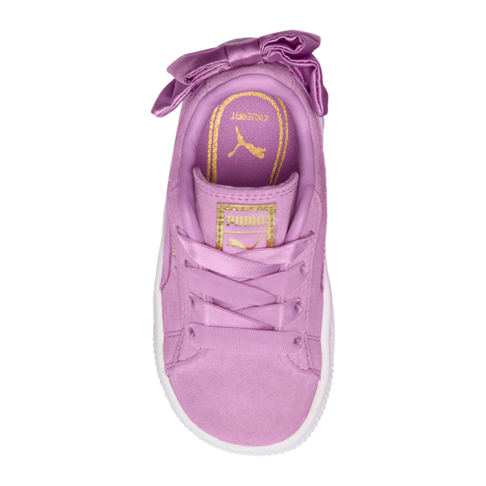 bb05036813c6b1 Puma Kids Suede Bow Pink Sneaker