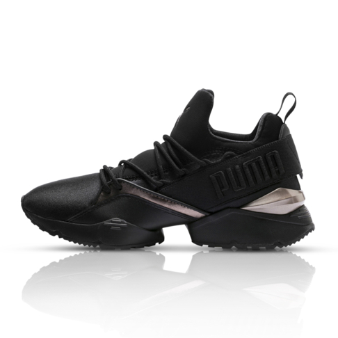 Puma Women s Muse Maia Luxe Black Sneaker 1439cbc1e
