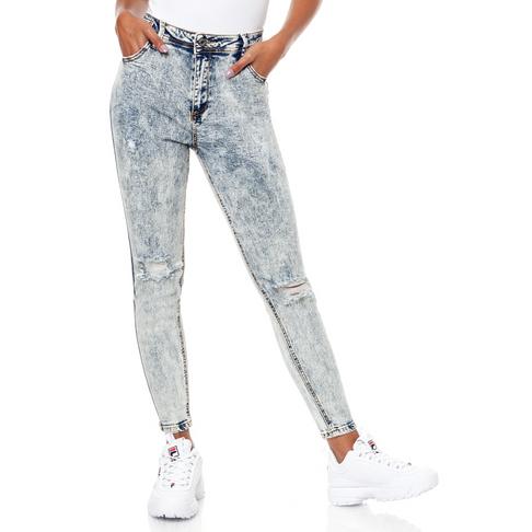 ce4f8b68278 Redbat Women s Blue Light Wash Distressed Regular Rise Skinny Jeans