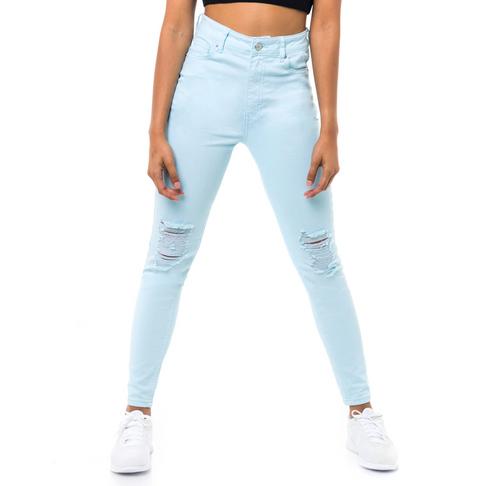 1d4f15b2730221 Redbat Women's Light Blue Super Skinny Jeans