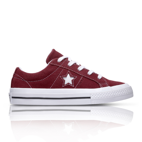 080286fbe77c Converse Kids One Star Suede Low Burgundy Sneaker