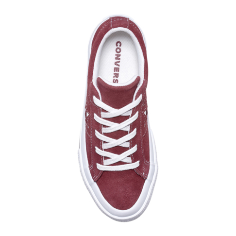 334b4467329ff5 Converse Kids One Star Suede Low Burgundy Sneaker