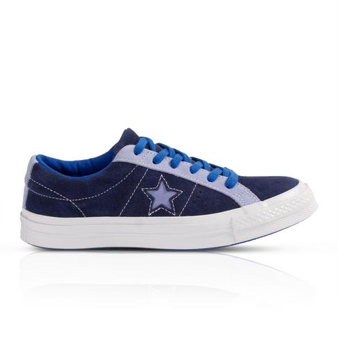 966b3950f1af Converse One Star Junior Suede Navy Sneaker